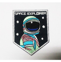 """Space Explorer/Spaceman"" Sew On Or Iron On Patch. High Quality."