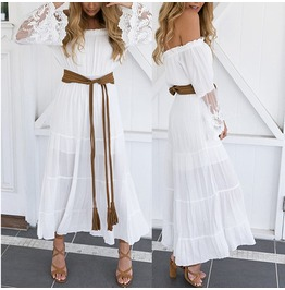 Summer Boho Long Maxi Dress Evening Cocktail Party Beach Dress