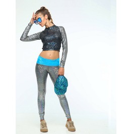 Holographic High Low Leggings ~ Sea Dragon Studio