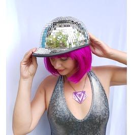 Disco Ball Hat | Mirror Ball Hat | Disco Ball Pony Cap