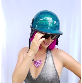 Disco Ball Hat | Mirror Ball Hat | Pony Cap With Strap