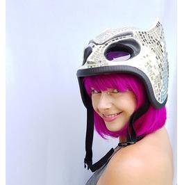 Disco Ball Helmet | Mirror Ball Helmet | Disco Ball Bat/Cat Style Hat