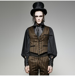 Gothic Steampunk Victorian Wedding Vintage Edwerdian Striped Coat