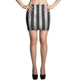 Grunge Stripe Mini Skirt