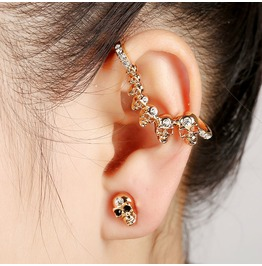 One Side Skull Ear Cuff