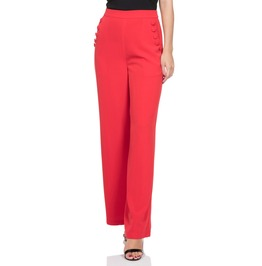 Voodoo Vixen Women's Teddy Wide Leg Red Trousers