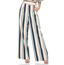 Voodoo Vixen Women's Hailey Striped High Waist Trousers