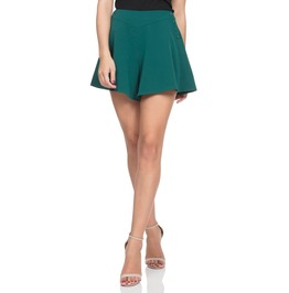 Voodoo Vixen Women's Mira Deep Green Swing Shorts