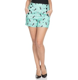 Voodoo Vixen Women's Flossy Mint Kitty Shorts