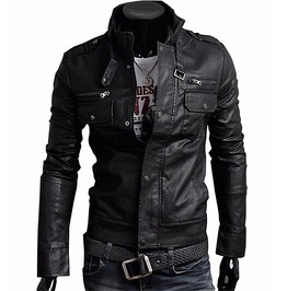 Pu Leather Jacket Men's Brown Dark Brown Black Pu Leather Jacket Men