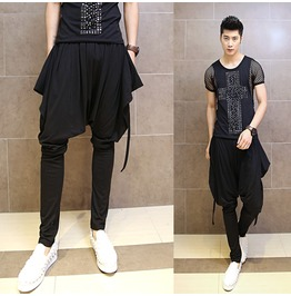 Korean Fashion Men's Harem Pants Casual Skinny Pants