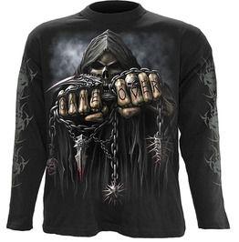 Spiral Direct GAME OVER Work Shirt,Biker//Tattoo//Skull//Rock//Metal//Top//M L XL XXL