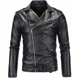 Punk Rock Zipper Pockets Motorcyle Leather Jacket