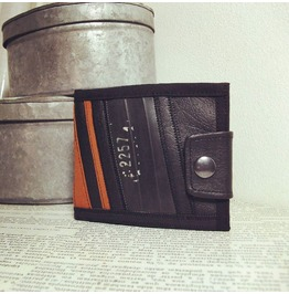 Steampunk Handmade Recycled Tire Wallet