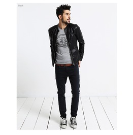 Motorcycle Leather Slim Leather Jacket Black