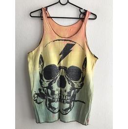Skull Goth Punk Pop Art Rock Vest Tank Top