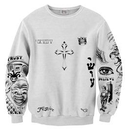 Bieber Tattoos Sweater From Mr. Gugu & Miss Go