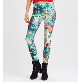 Tropical Jungle Printed Leggings | High Quality | Allover Print