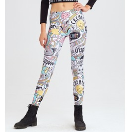 Head Of Artist Printed Leggings | Fullprint Mr.Gugu & Miss Go