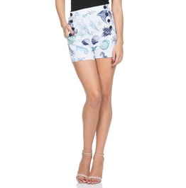 Voodoo Vixen Women's Cecil Sea Print Shorts