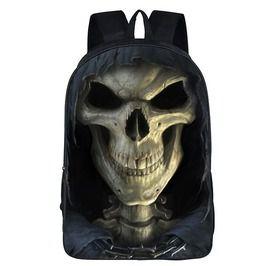 Street Rock Punk 3 D Print Skull Backpack