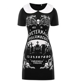 Eternal Slumber Farewell Forever Black Punk Gothic Dress