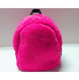 Hot Pink Faux Fur Mini Backpack