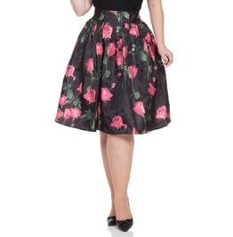 Voodoo Vixen Women's Nellie Rose Skirt With Overlay