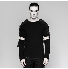 Punk Rave Men's Warrior Shirt With Detachable Sleeves T460