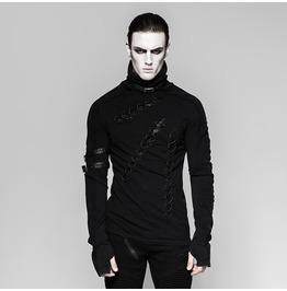 Punk Rave Men's High Collar Lace Up Shirt T461