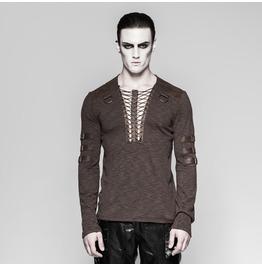 Punk Rave Men's Punk Lace Up Long Sleeved Shirt T462