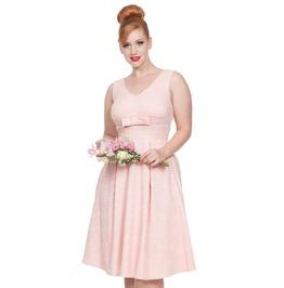 Voodoo Vixen Women's Lauren Peach Lace Dress