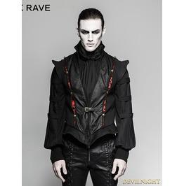 Black Gothic Century Palace Luxury Vest For Men Y 736