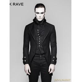 Black Gothic Gentleman Steampunk Fake Two Pieces Jacket For Men Y 750
