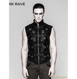 Black Gothic Heavy Punk Corn Vest For Men Y 758