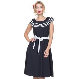 Voodoo Vixen Women's Hope Nautical Dress With Frills