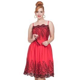Voodoo Vixen Women's Scarlett Red Embroidered Dress