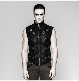 Punk Rave Men's Punk Rock Zipper Vest Y758