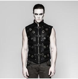Punk Rave Men's Punk Rock Zipper Vest Y758