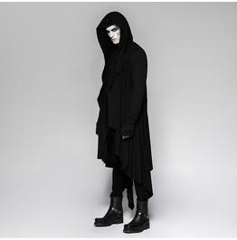 Punk Rave Men's Steampunk Irregular Hooded Long Coat Y751
