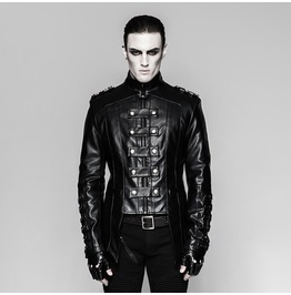 Punk Rave Men's Military Faux Leather Jackets Y746