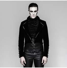 Punk Rave Men's Gothic Military Swallow Tail Dress Jacket Y737