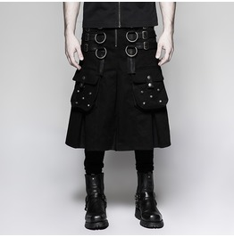 Punk Rave Men's Steampunk Metal Warrior Shirt/Kilts Q321
