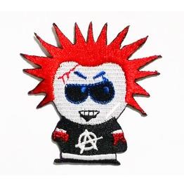 Anarchy Red Hair Punk Rock Cartoon Patch.