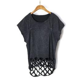 Women's Punk Batwing Sleeve Cutout Coattail T Shirt