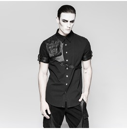 Punk Rave Men's Steam Punk Shirt With Messenger Pocket Y757