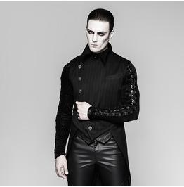 Punk Rave Men's Gothic Stripes Buckles Swallow Tail Vest Y763