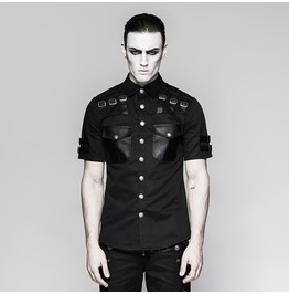 Punk Rave Men's Military Short Sleeved Shirt Y744