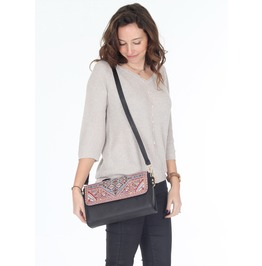 Black Cross Body Bag, Women's Cross Body Bag, Ethnic Purse,Black Handbag