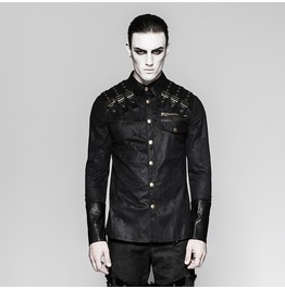 Punk Rave Men's Metal Punk Long Sleeved Shirt Y740